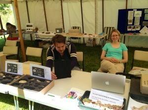 Moor Stories display at Bellever Day with Helen and Will
